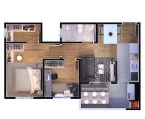 2 dormitórios - closet