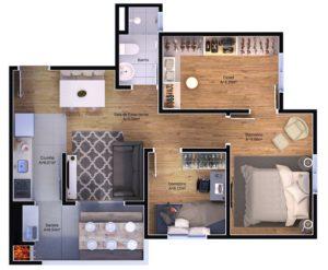 3 dormitórios - opção com Closet
