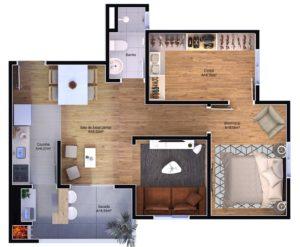 3 dormitórios - closet e sala estendida