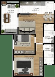 Apartamento final 01 e 05