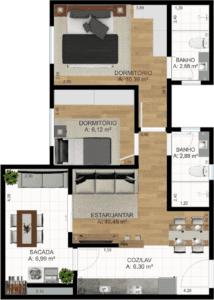 Apartamento final 02 e 04